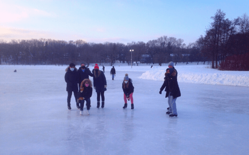A.C. Nielsen Students Ice Skating