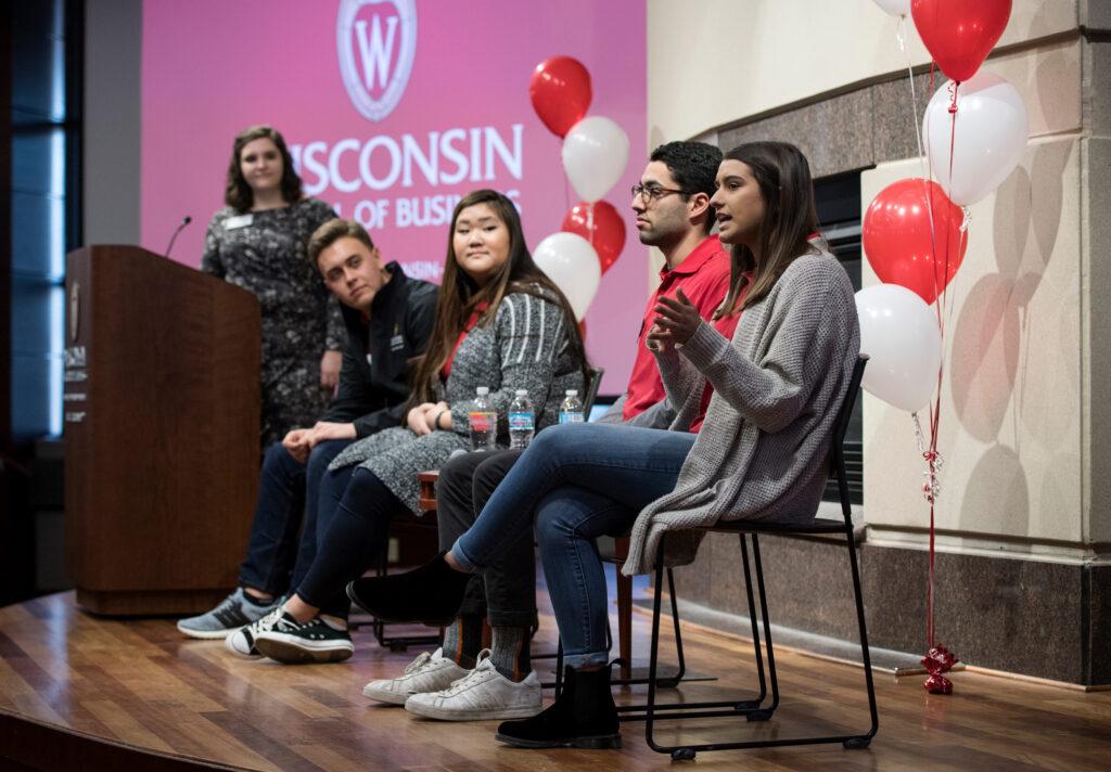 Undergrads speaking to newly admits
