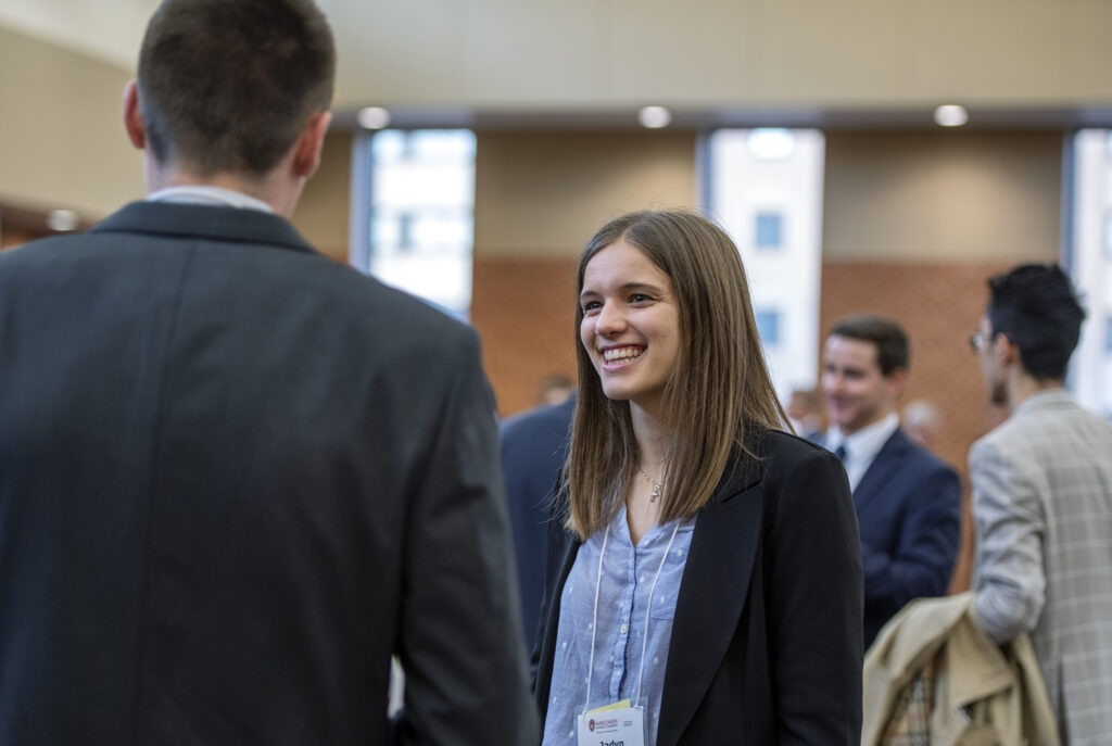 MBA students networking
