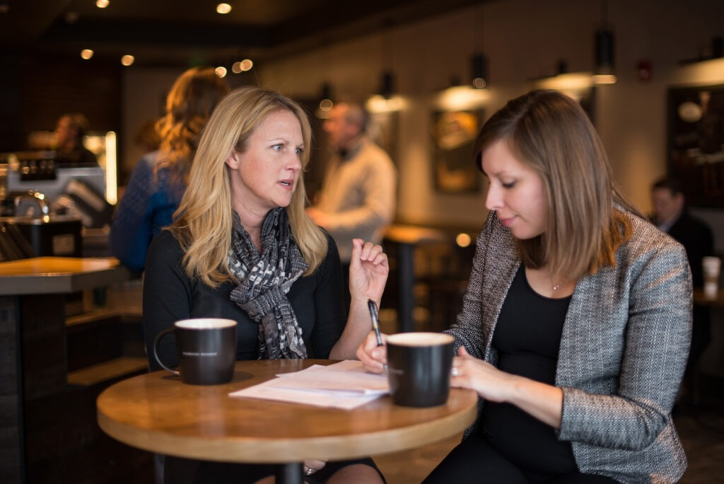 Two women at coffee