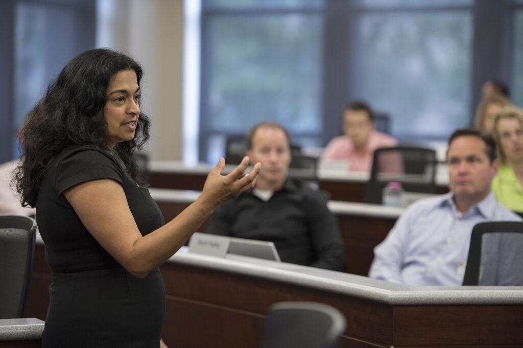 Binnu Palta teaching a class on diversity and inclusion