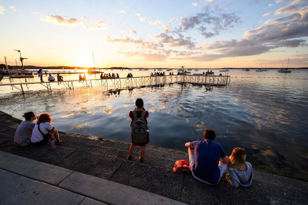 Image of Lake Mendota at sunset