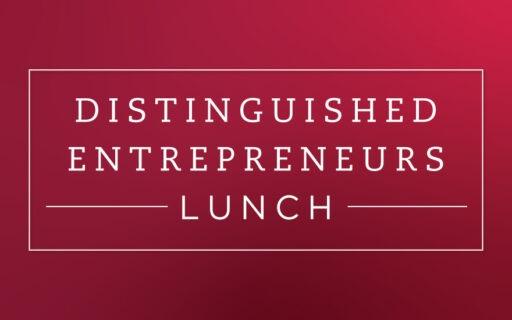 Distinguished Entrepreneurs Lunch Banner