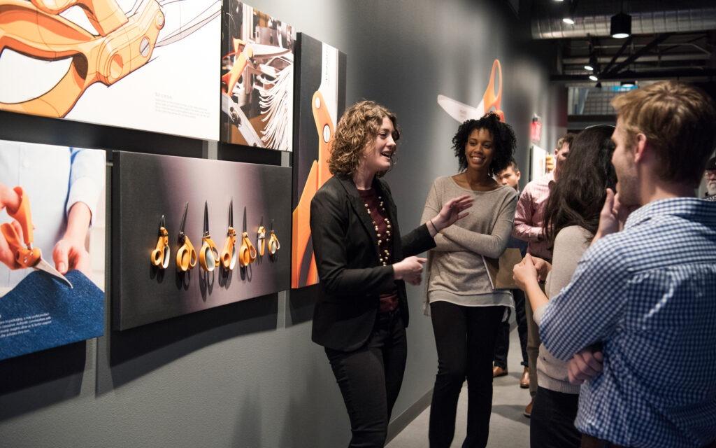 Students tour Fiskars headquarters