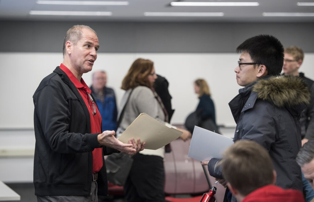 Students at admit day