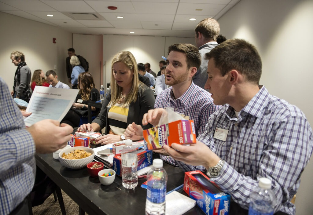 MBA students participate in a project while at SC Johnson in Chicago