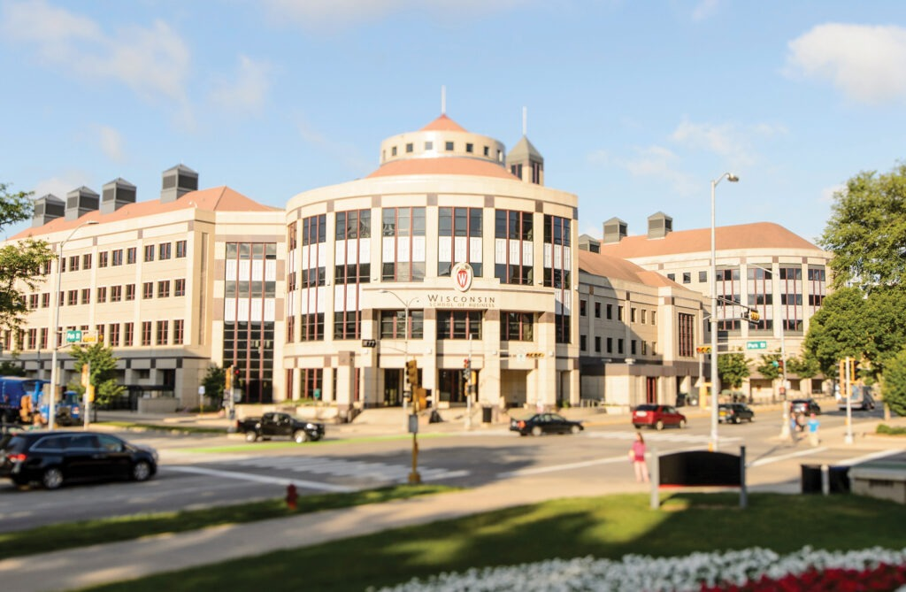 The front of Grainger Hall at University of Wisconsin-Madison