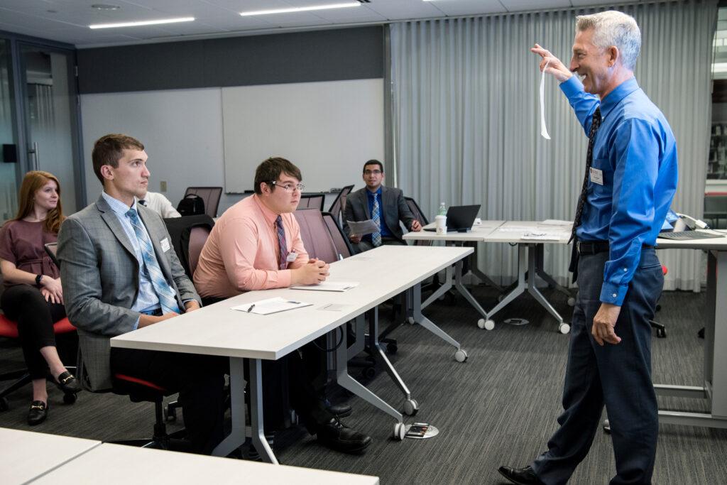 Russ teaching a class