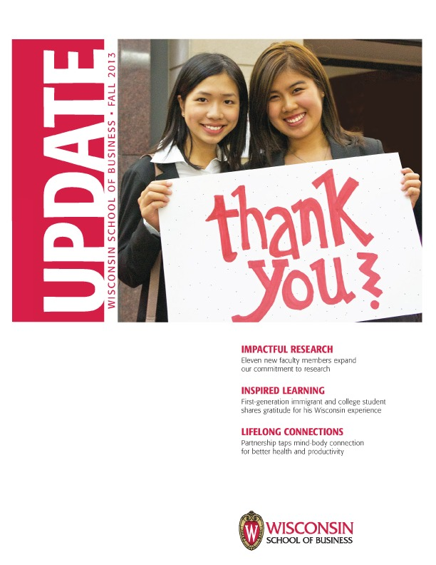 Cover of the Fall 2013 Update Magazine