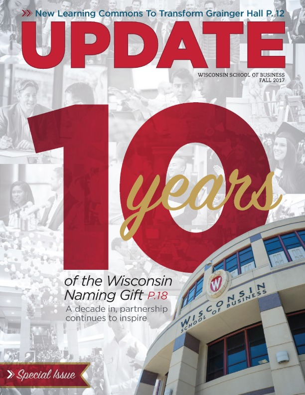Cover of the Fall 2017 Update Magazine