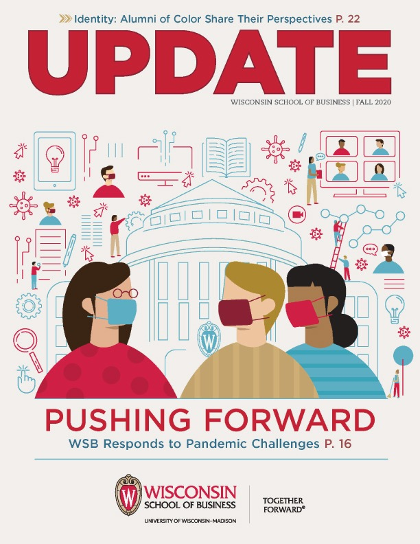 Cover of the Fall 2020 Update Magazine