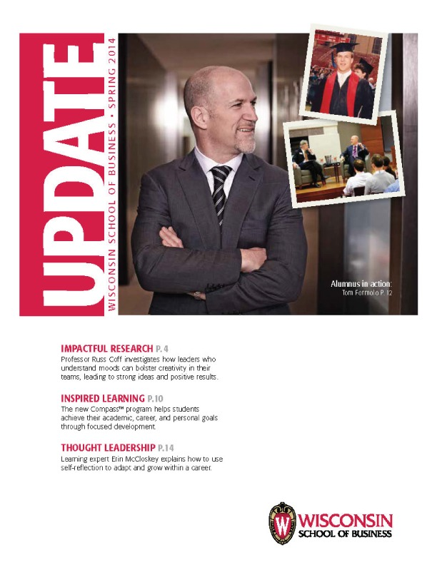 Cover of the Spring 2014 Update Magazine