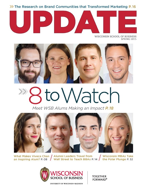 Cover of the Spring 2015 Update Magazine