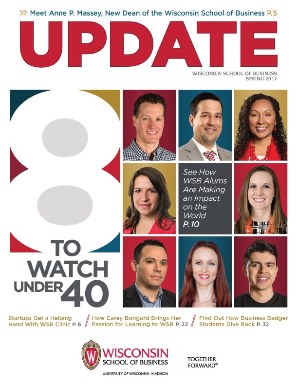 Cover of the Spring 2017 Update Magazine