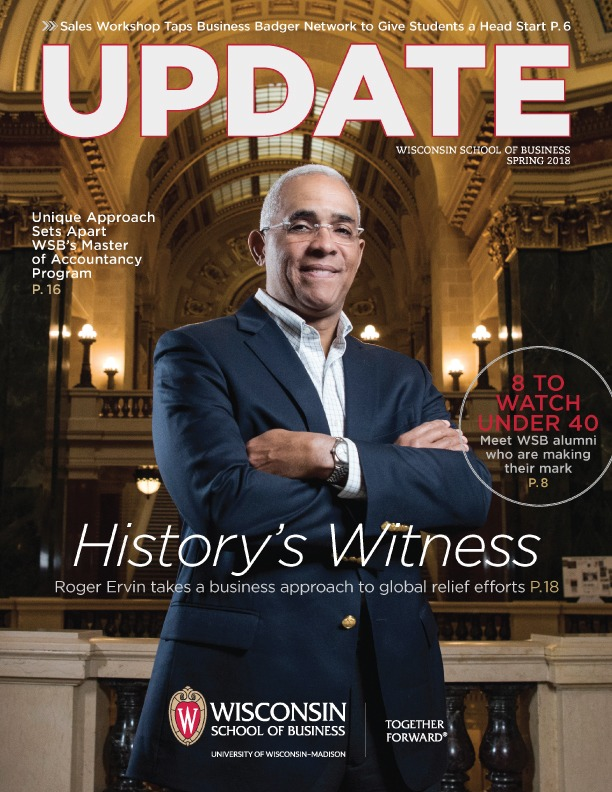 Cover of the Spring 2018 Update Magazine